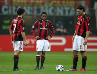 The three protagonists of Milan's attack