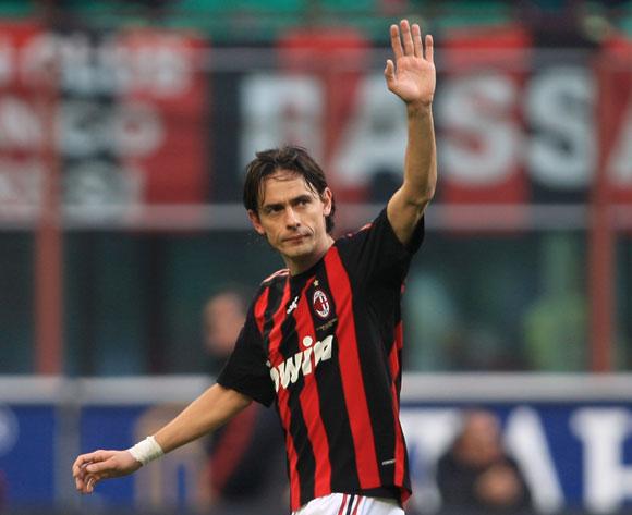 Inzaghi Saluting Milan Fans